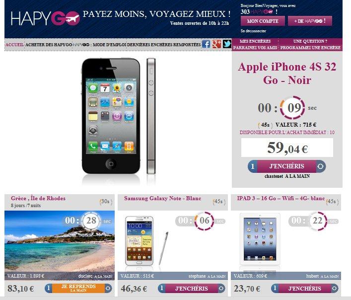 Hapygo.fr : le site d'enchères voyages