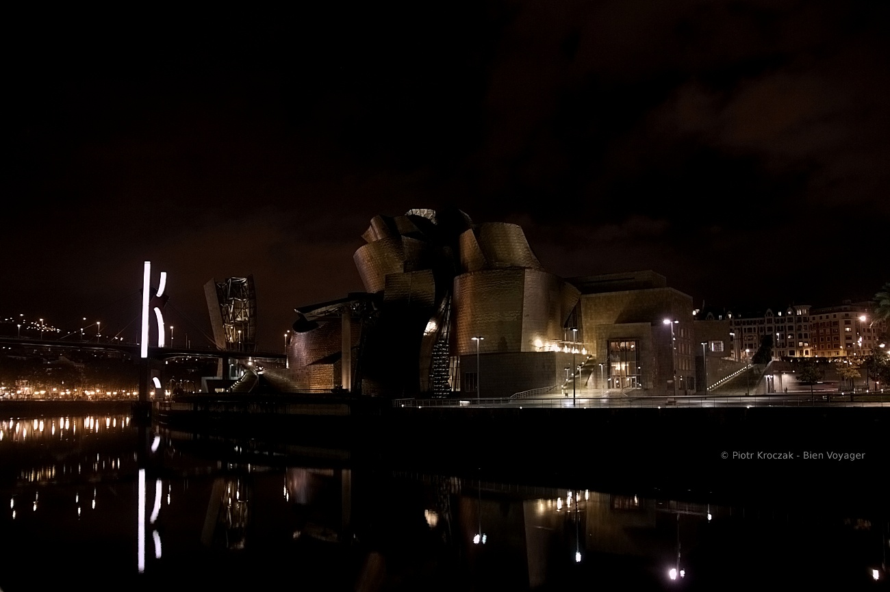 Guggenheim la nuit.