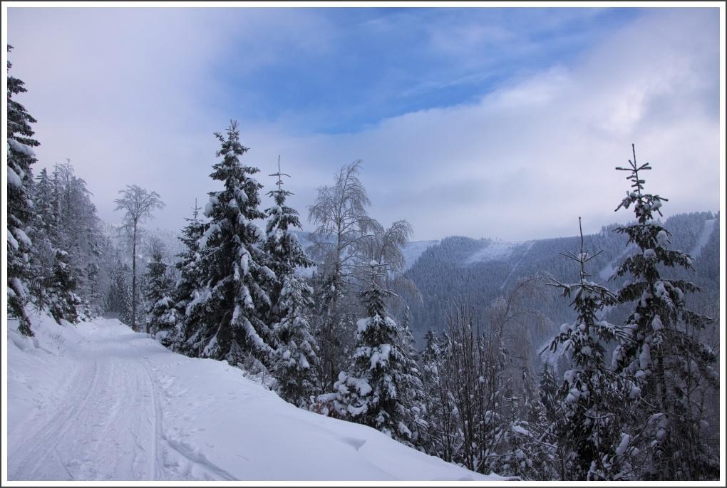 Montagne, hiver, neige et ski en République tchèque