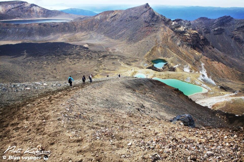 #NouvelleZélande Tongariro trek, sur les marches du mont du Destin