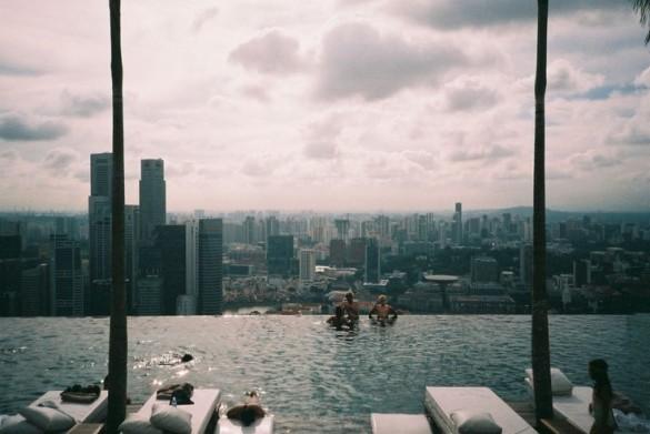 singapour vue piscine
