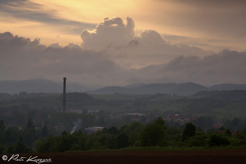 jelenia gora coucher soleil