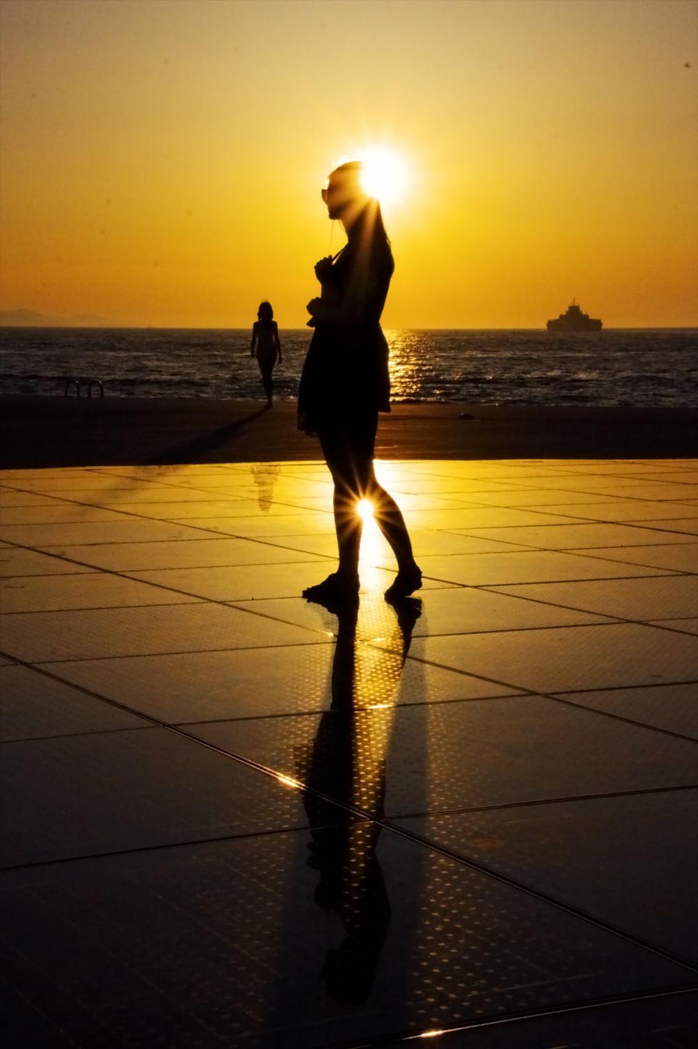 Croatie Zadar Coucher de soleil