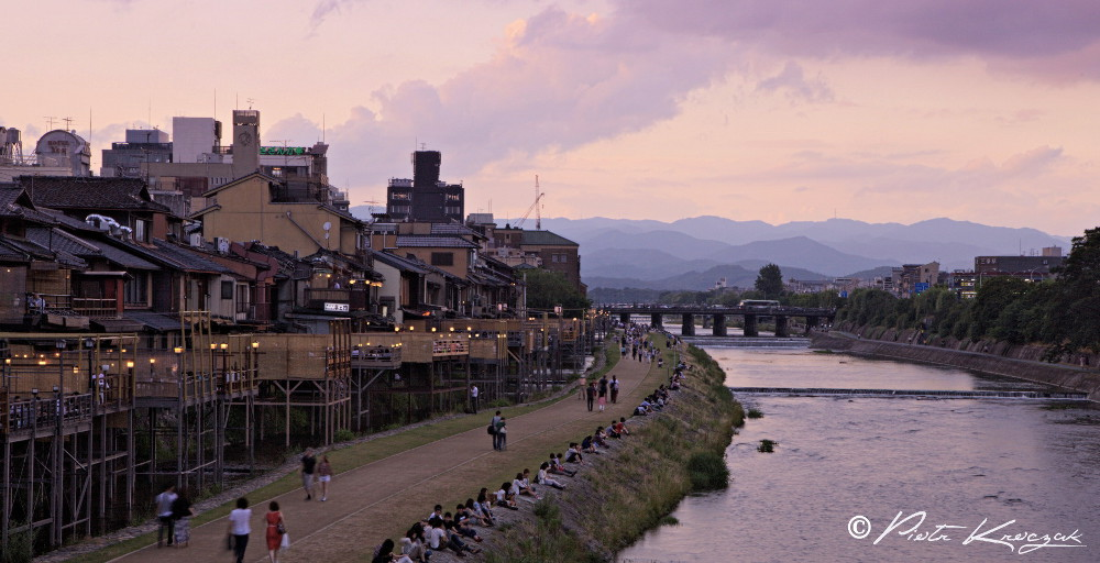 Japon Kyoto coucher soleil