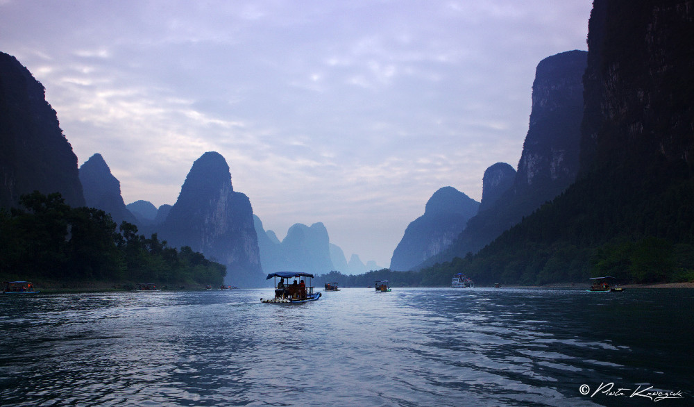 balade radeau rivière Li