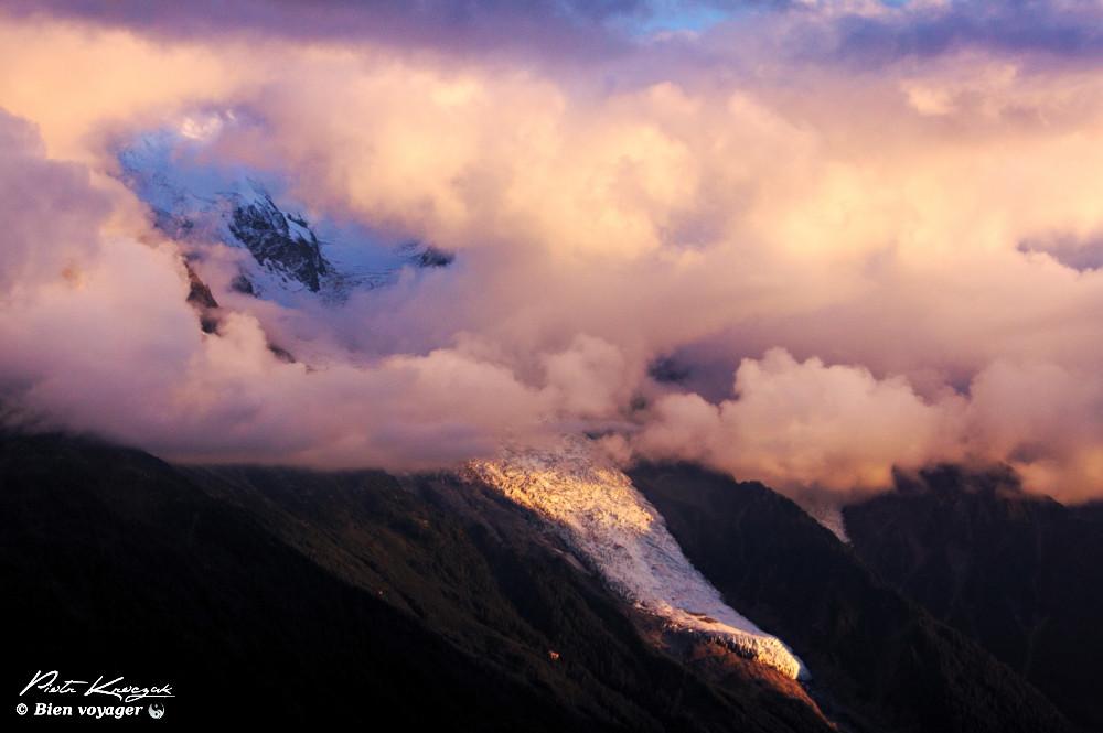 coucher soleil tour du mont blanc