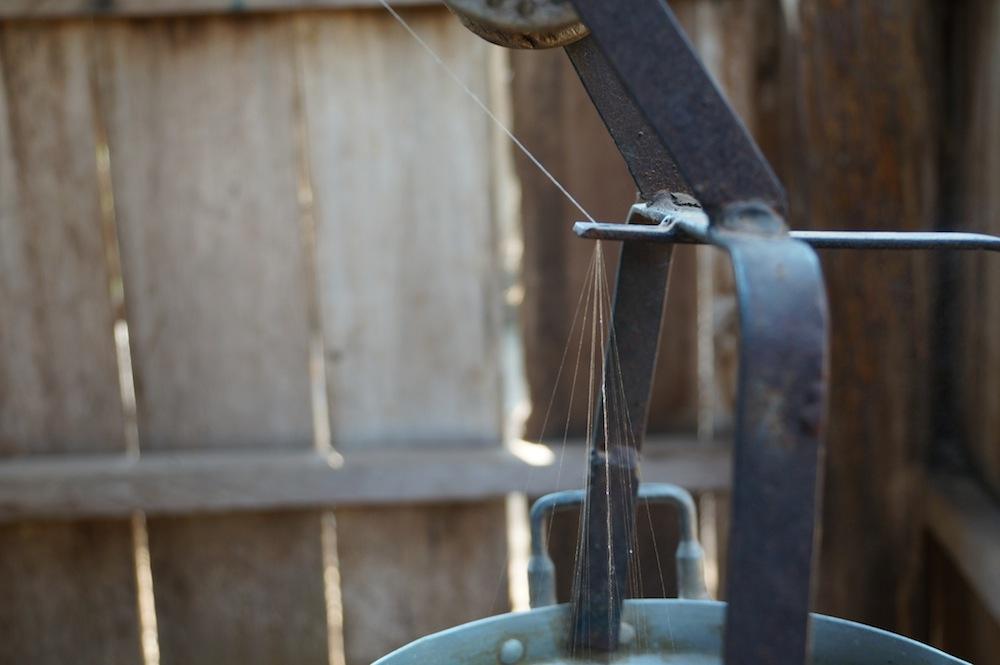 Jusqu'à 15 fils de cocon pour 1 fil à soie