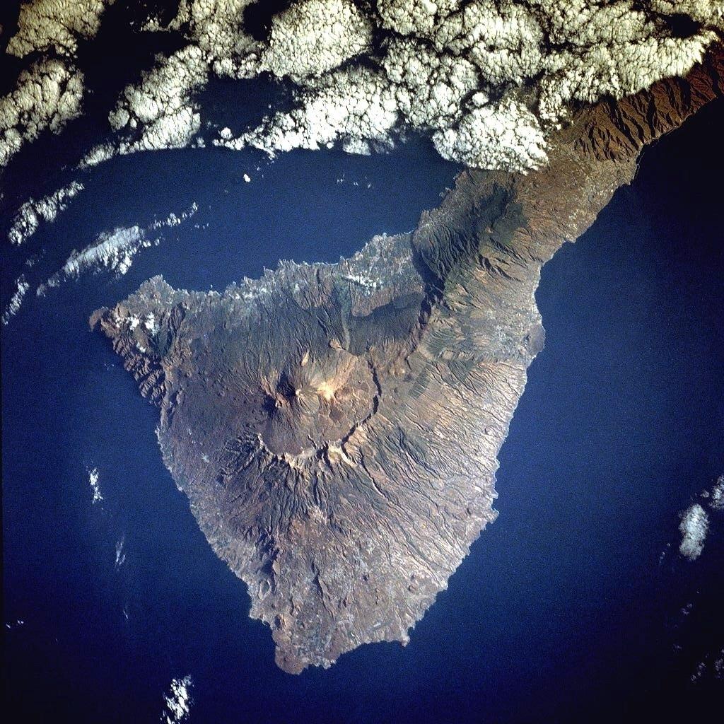 Tenerife vue du ciel