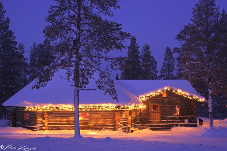 maison hiver laponie