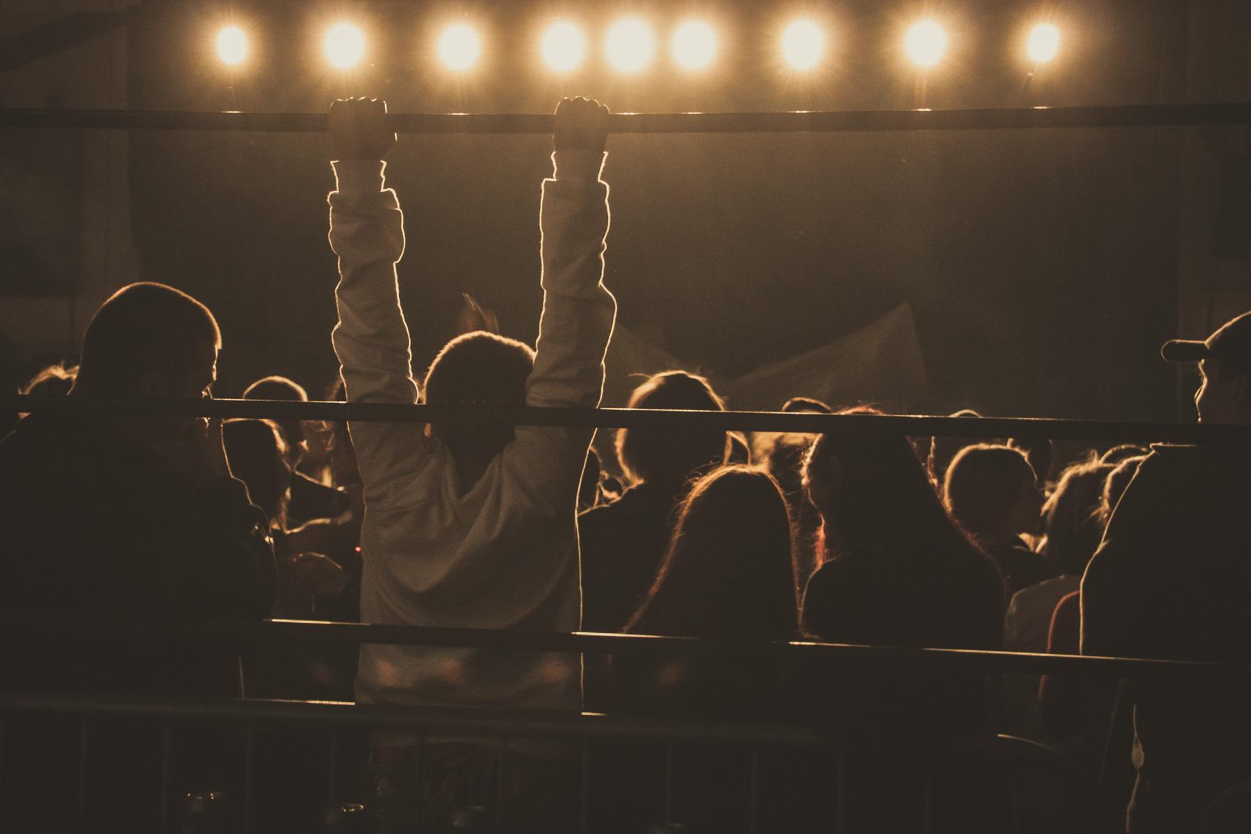spectateur à un festival de musique