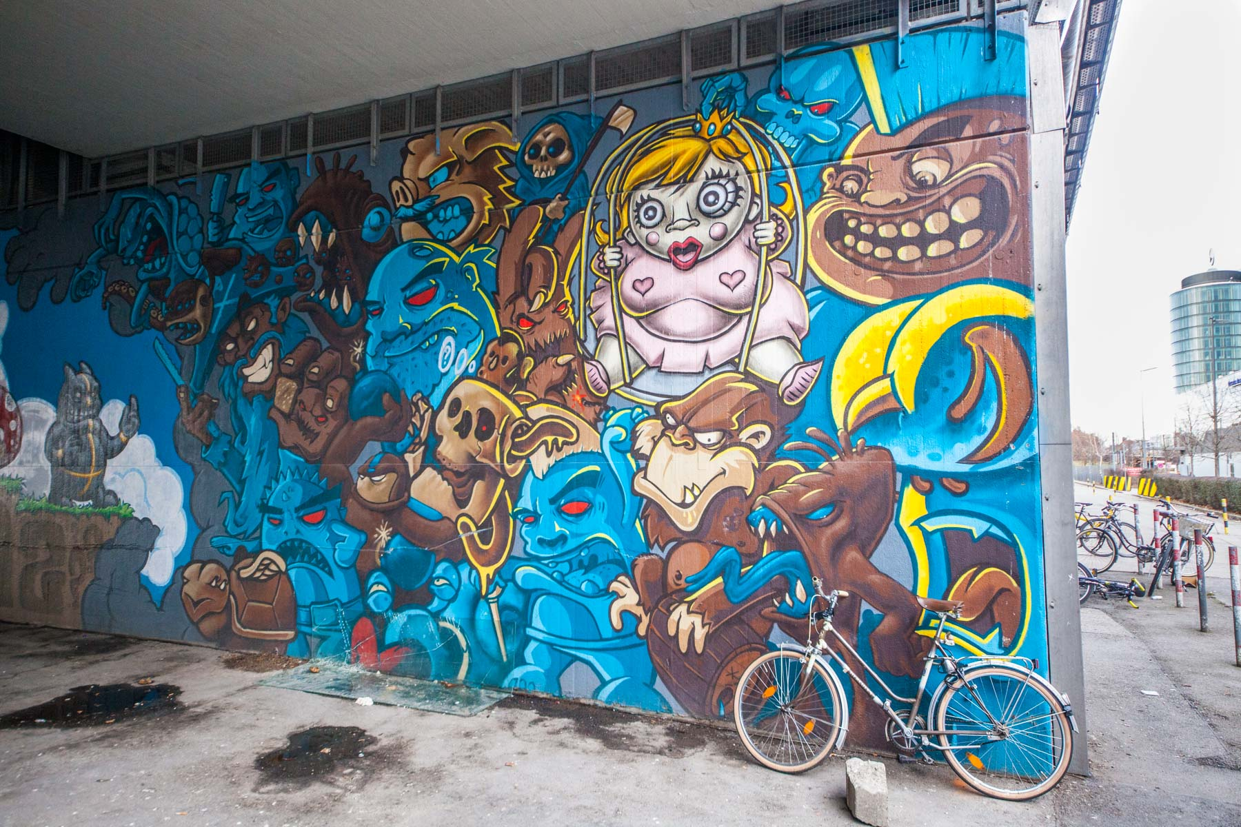 Donnersberger Brücke street art munich