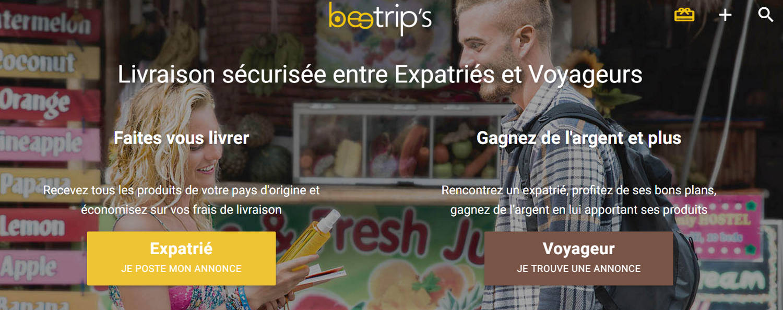 Beetrip's : service de livraison entre expatriés & voyageurs