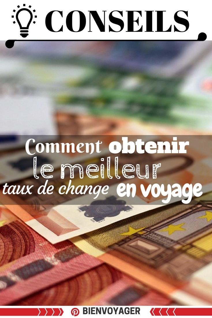 eilleur taux de change voyage