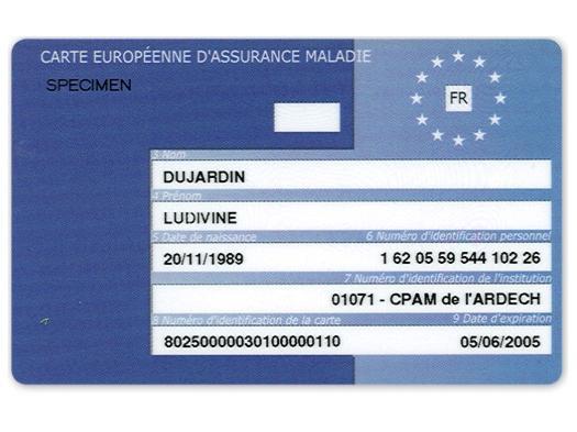 validité carte européenne d assurance maladie Connais tu la carte européenne d'assurance maladie ?