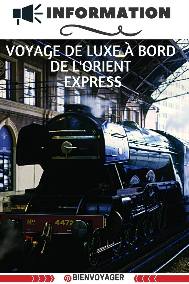 voyage train orient express